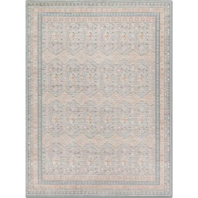 Rugs - Ella Rose 5' x 8' Rug - Mist and Stone