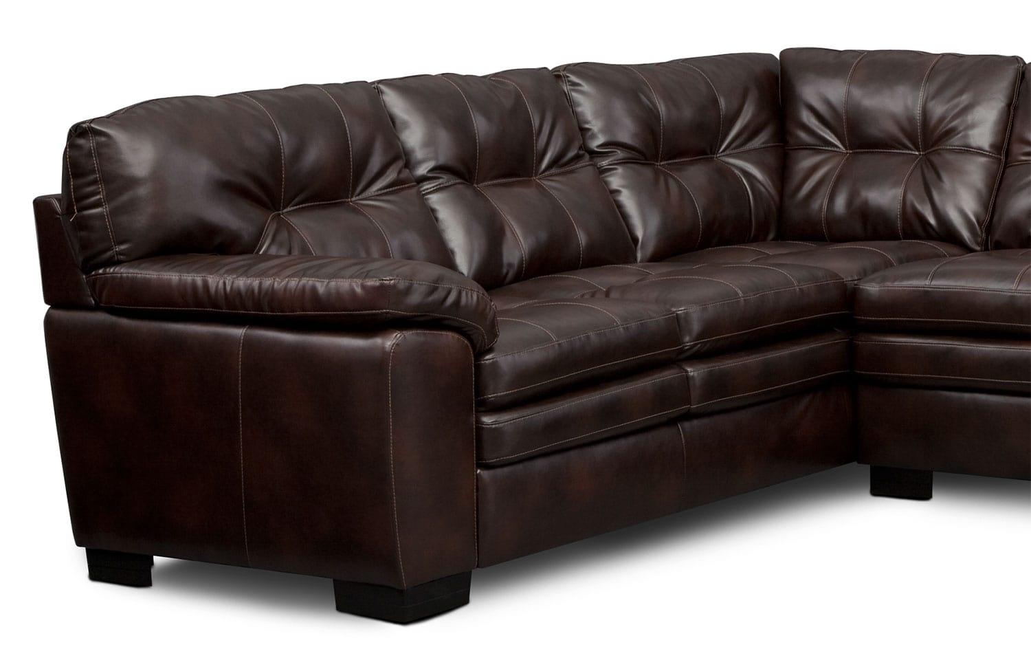 Magnum 2 Piece Sectional With Right Facing Sofa Brown