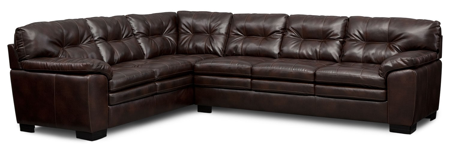 Magnum 2Piece Sectional Brown Value City Furniture and Mattresses