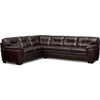 Magnum 2-Piece Sectional - Brown