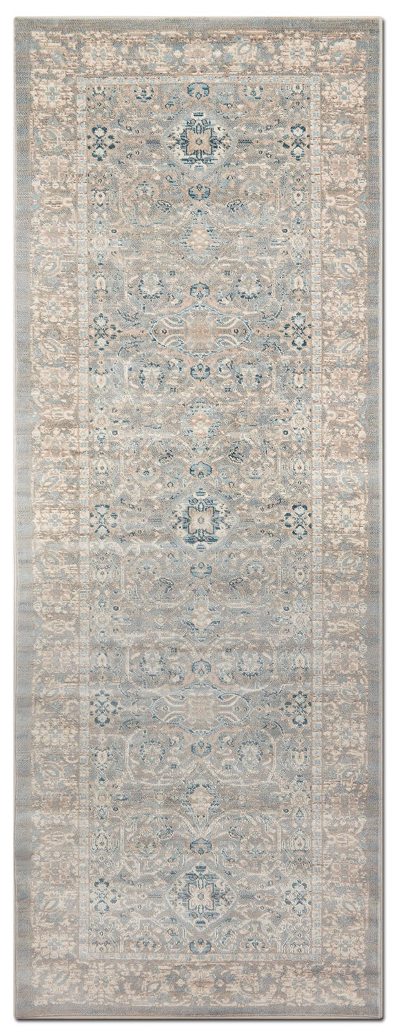 Rugs - Ella Rose 3' x 8' Rug - Steel