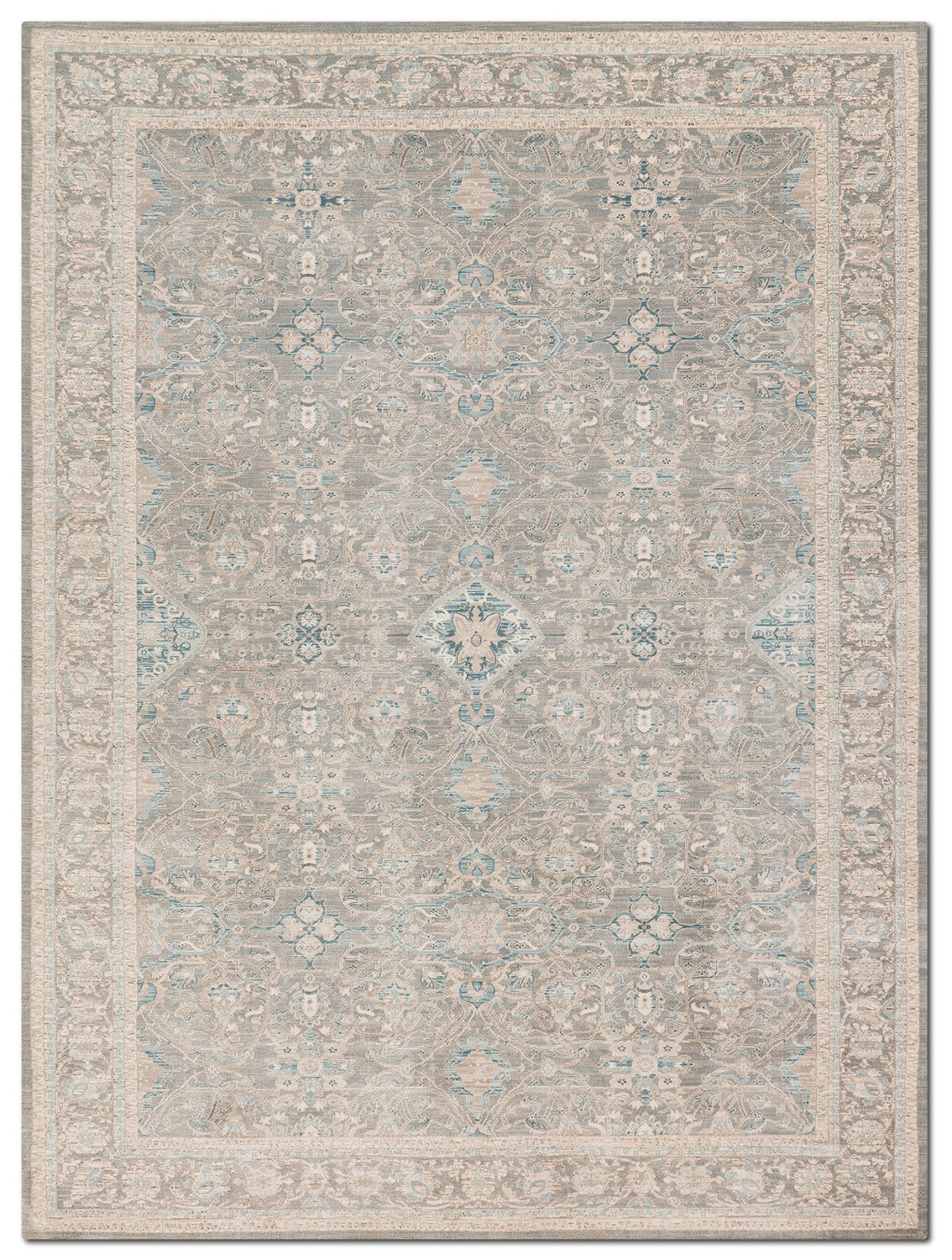 Rugs - Ella Rose 10' x 13' Rug - Steel