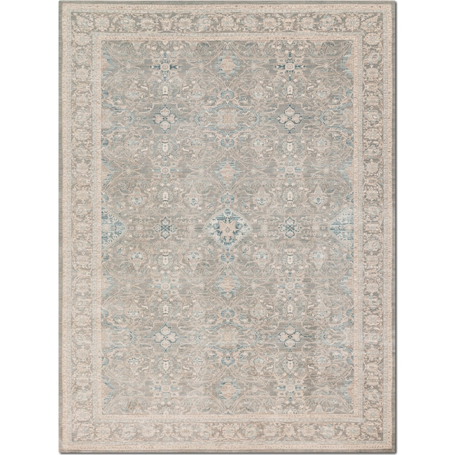 Rugs - Ella Rose 7' x 11' Rug - Steel