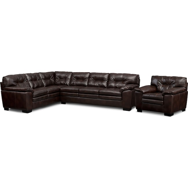 Living Room Furniture - Magnum 2-Piece Sectional and Chair Set