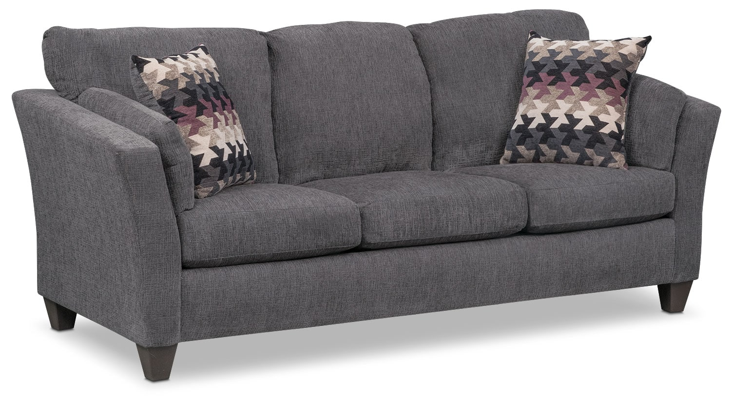 Living Room Furniture - Juno Queen Memory Foam Sleeper Sofa - Smoke