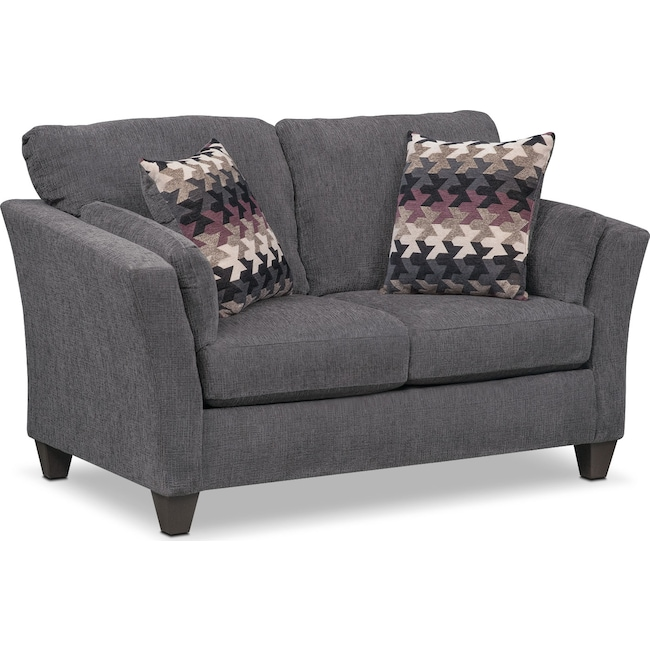 Living Room Furniture - Juno Loveseat - Smoke