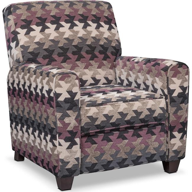 Living Room Furniture - Juno Push-Back Recliner - Smoke