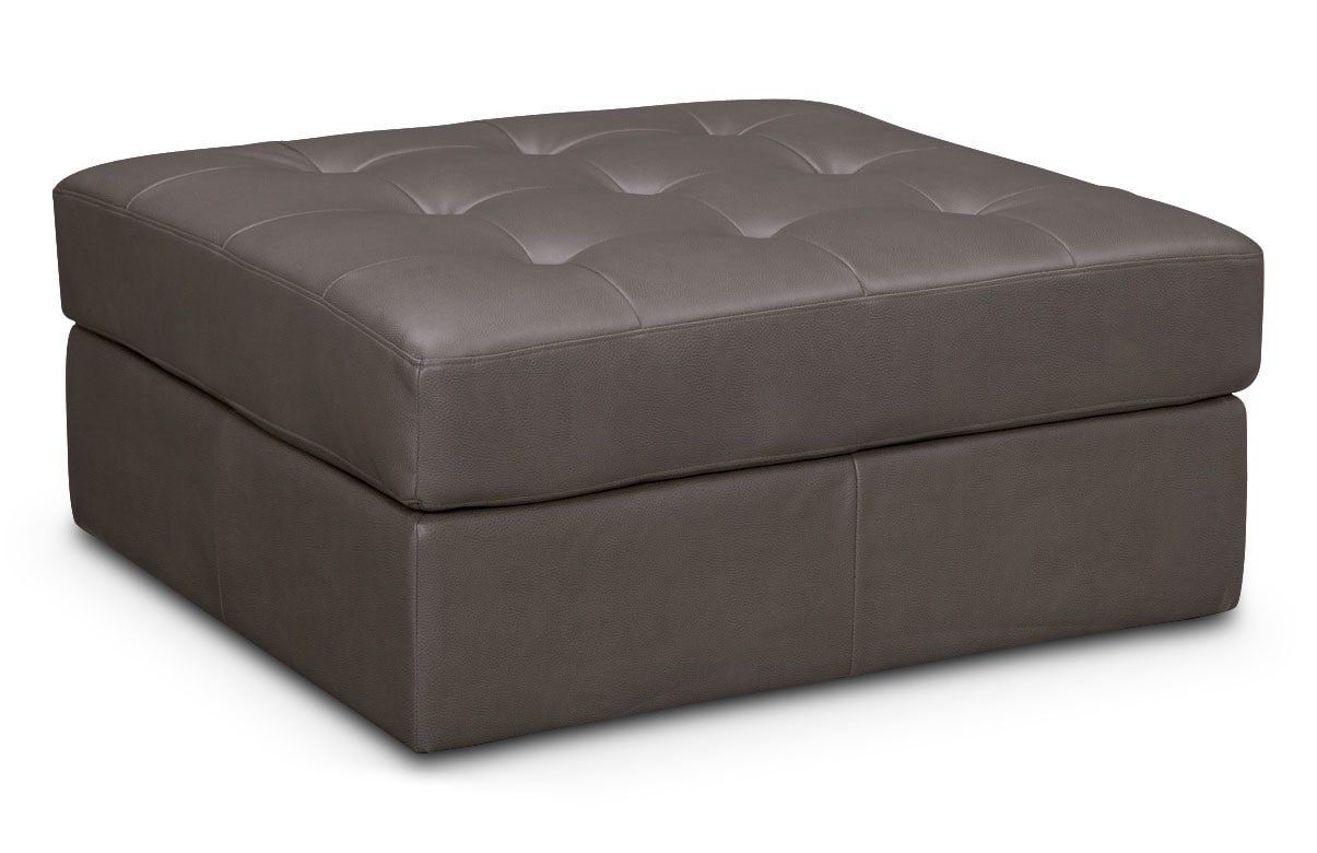 Living Room Furniture - Cayenne Ottoman - Gray