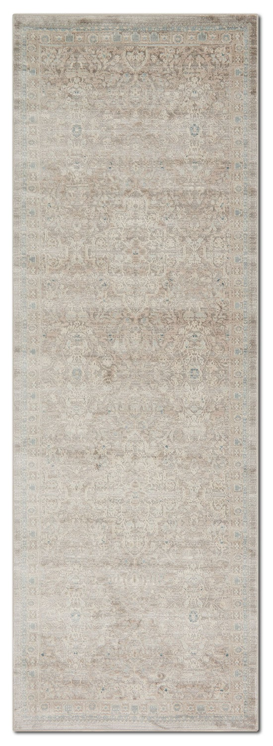 Rugs - Ella Rose 3' x 8' Rug - Pewter