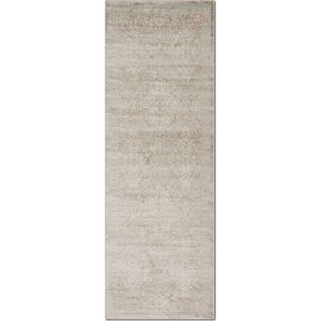 Rugs - Ella Rose 3' x 11' Rug - Pewter