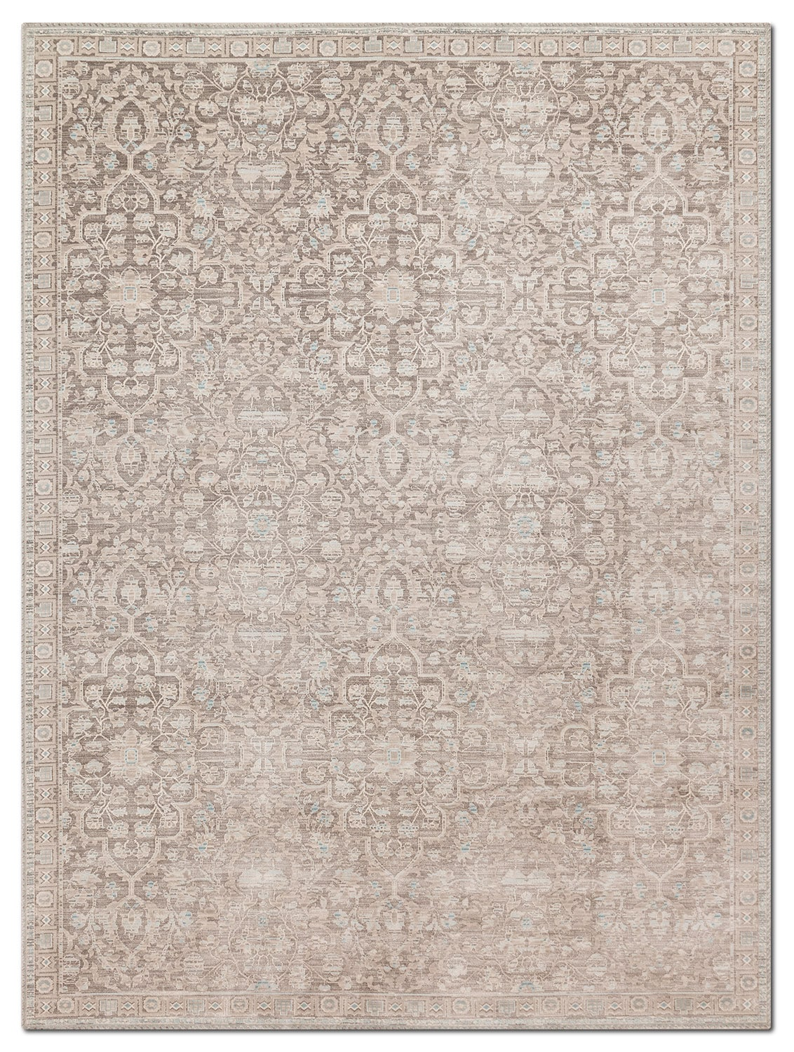 Rugs - Ella Rose 10' x 13' Rug - Pewter