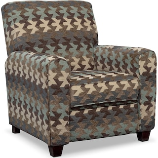 Juno Push-Back Recliner - Chocolate