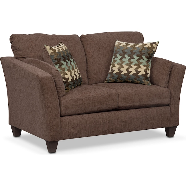 Living Room Furniture - Juno Loveseat - Chocolate