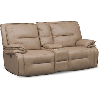 Nikki 3-Piece Power Reclining Sectional with Console - Taupe