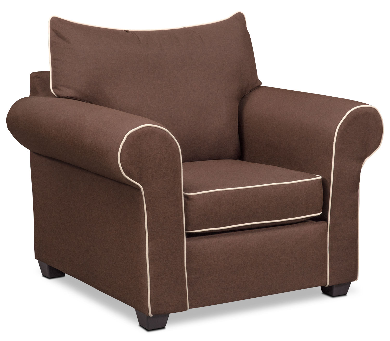 Living Room Furniture - Carla Chair - Chocolate