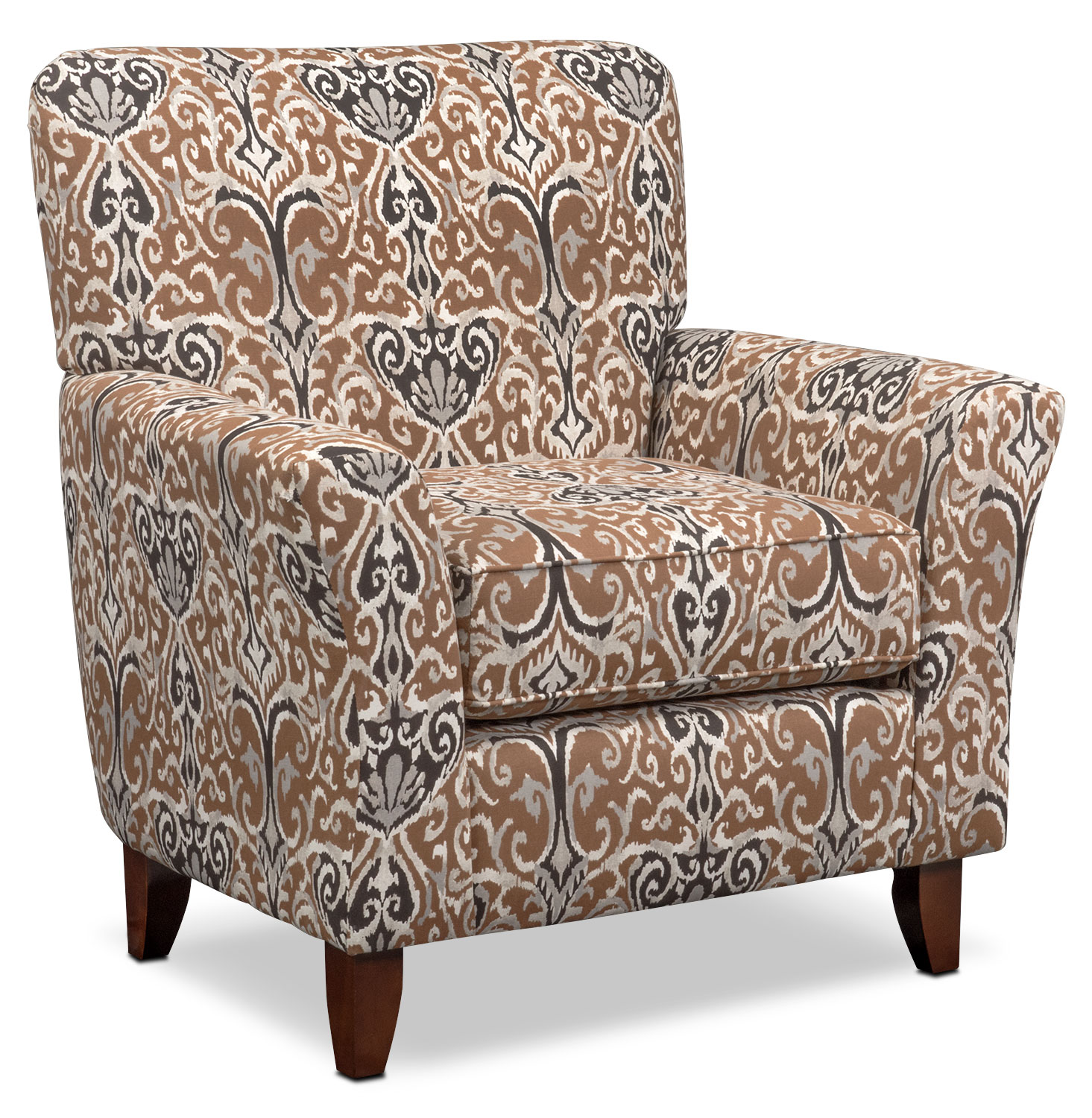 Carla 2 Piece Sectional and Accent Chair Set Chocolate