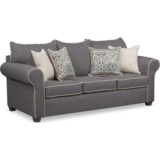 Living Room Furniture Carla Sofa Gray