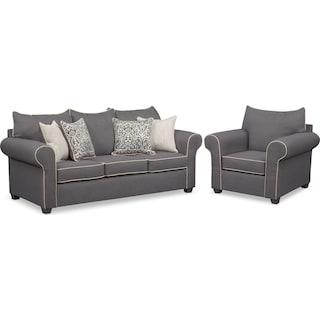 Carla Queen Sleeper Sofa and Chair Set