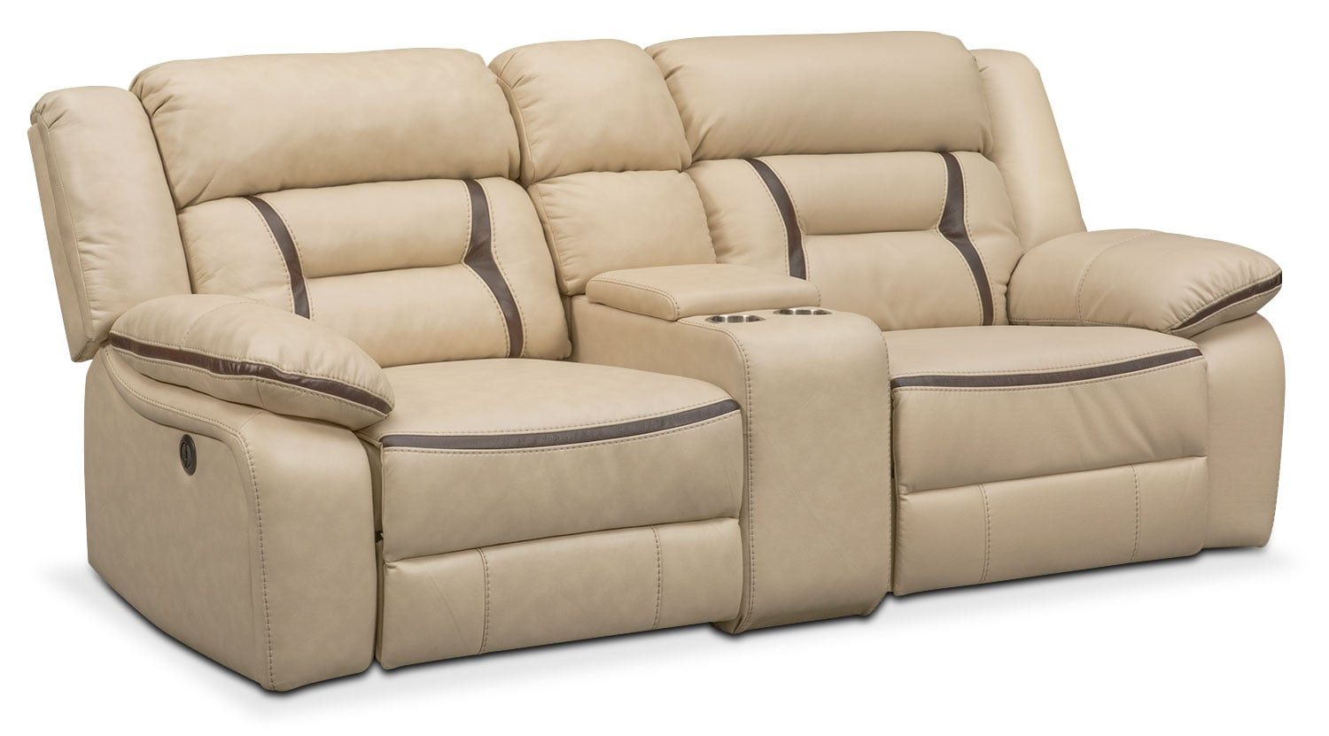 Living Room Furniture - Remi 3-Piece Power Reclining Sofa - Cream