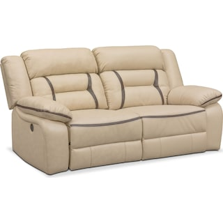 Remi 2-Piece Power Reclining Sofa - Cream