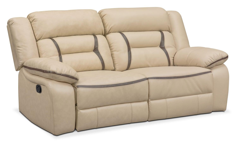 Living Room Furniture - Remi 2-Piece Reclining Sofa - Cream