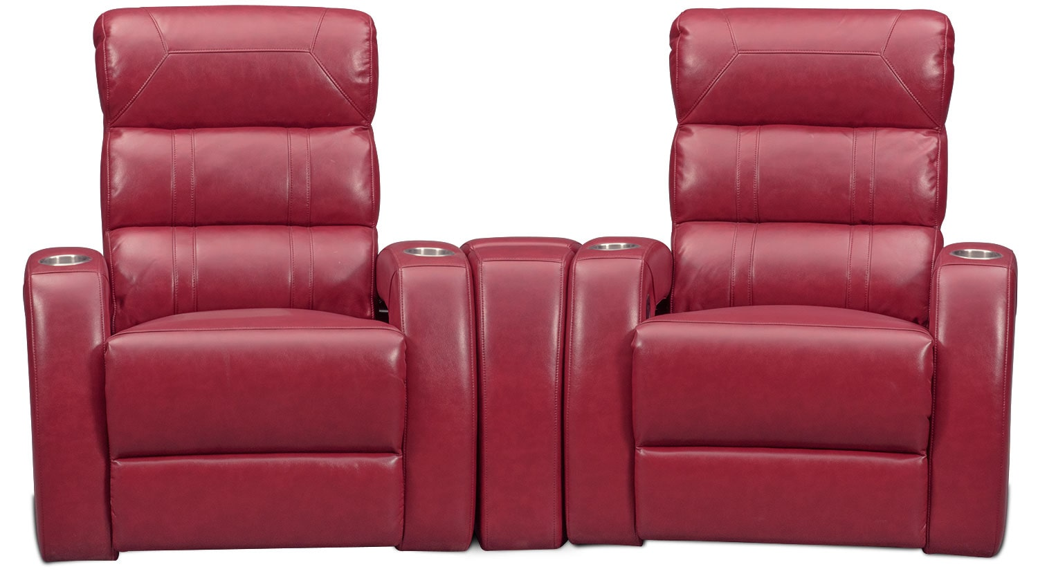 Bravo 3-Piece Power Reclining Home Theater Sectional - Red by One80  sc 1 st  Value City Furniture & Bravo 3-Piece Power Reclining Home Theater Sectional - Red | Value ... islam-shia.org