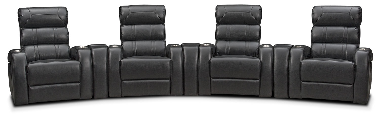 ... Home Theater Sectional - Black. Hover to zoom  sc 1 st  Value City Furniture : home theatre sectional - Sectionals, Sofas & Couches