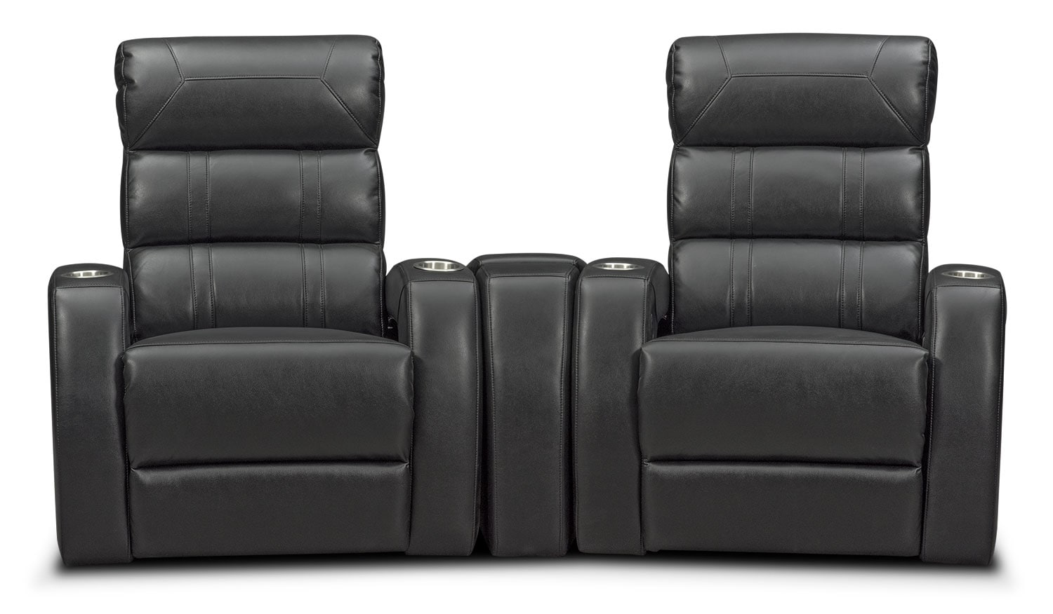 Living Room Furniture - Bravo 3-Piece Power Reclining Home Theater Sectional