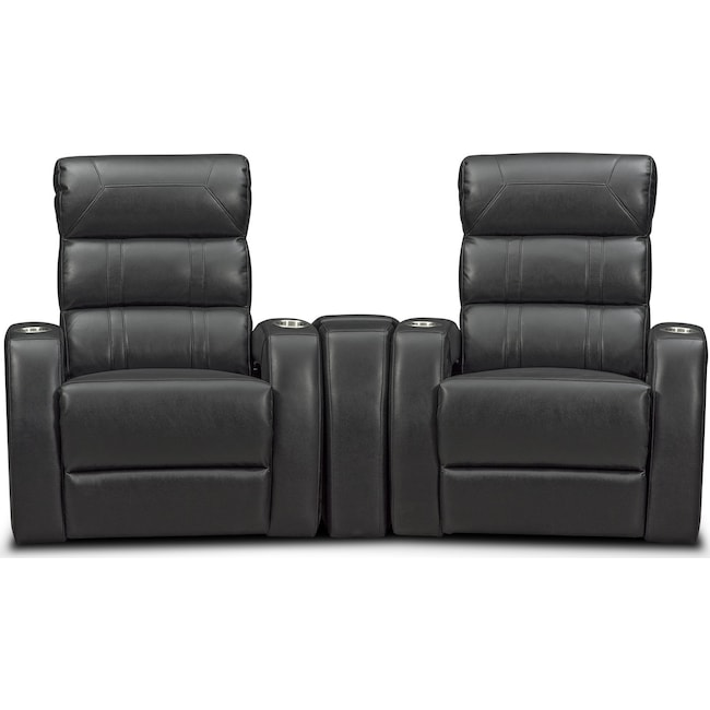 Living Room Furniture Bravo 3 Piece Reclining Home Theater Sectional