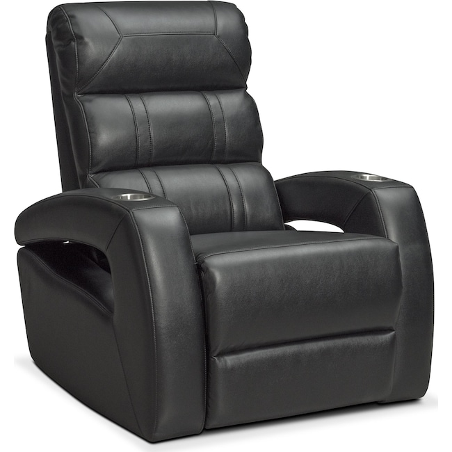 Living Room Furniture - Bravo Power Recliner - Black