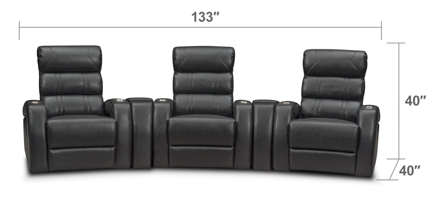 Bravo 5 Piece Power Reclining Home Theater Sectional
