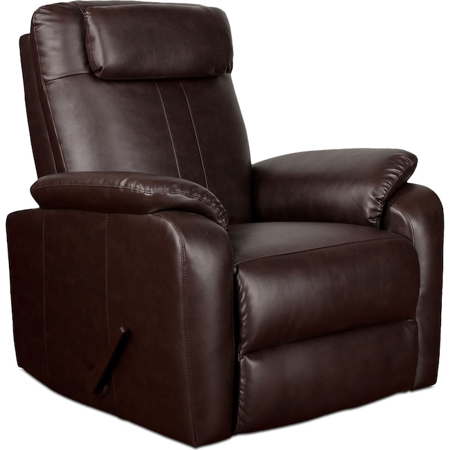Living Room Furniture - Sparta Rocker Recliner - Brown