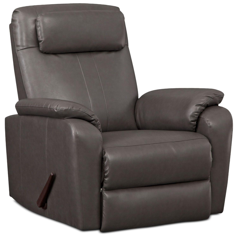 Living Room Furniture - Sparta Rocker Recliner - Gray