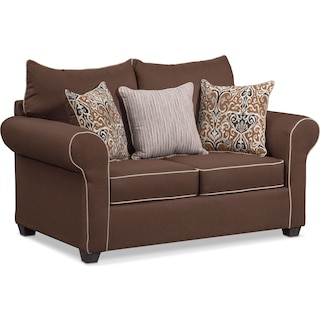 Carla Loveseat - Chocolate