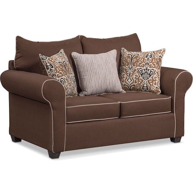 Living Room Furniture - Carla Loveseat - Chocolate