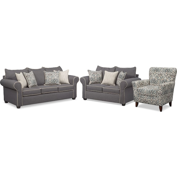 The Carla Collection Gray Value City Furniture