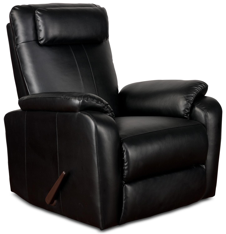 Living Room Furniture - Sparta Rocker Recliner - Black