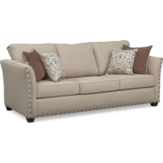 Living Room Furniture - Mckenna Sofa - Sand
