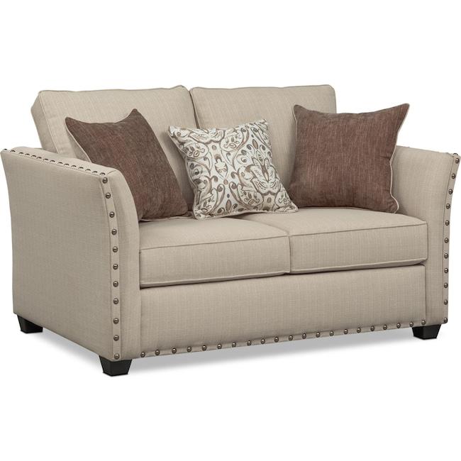 Living Room Furniture - Mckenna Loveseat - Sand