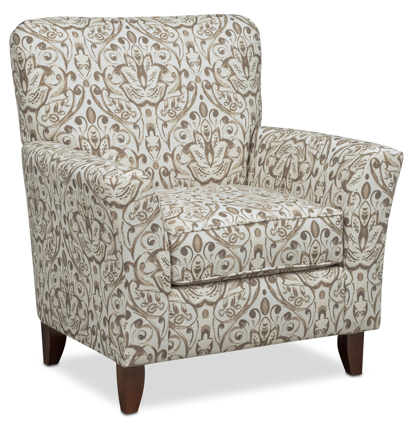 mckenna accent chair - sand | value city furniture and mattresses
