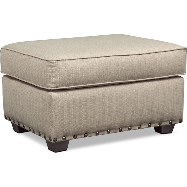 Living Room Furniture - Mckenna Ottoman - Sand