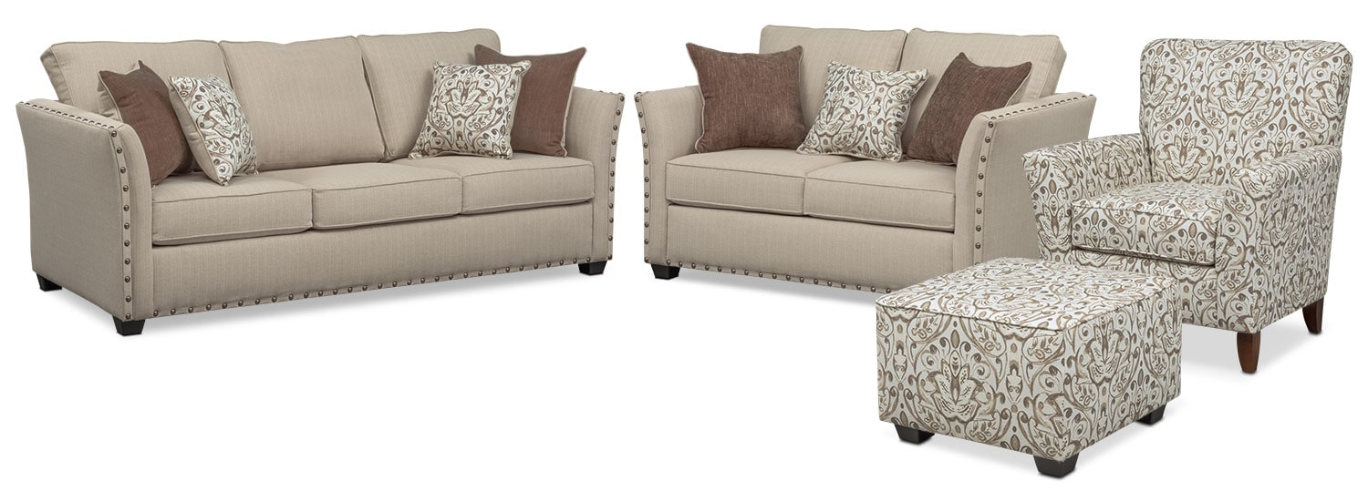 The Mckenna Sleeper Living Room Collection - Sand