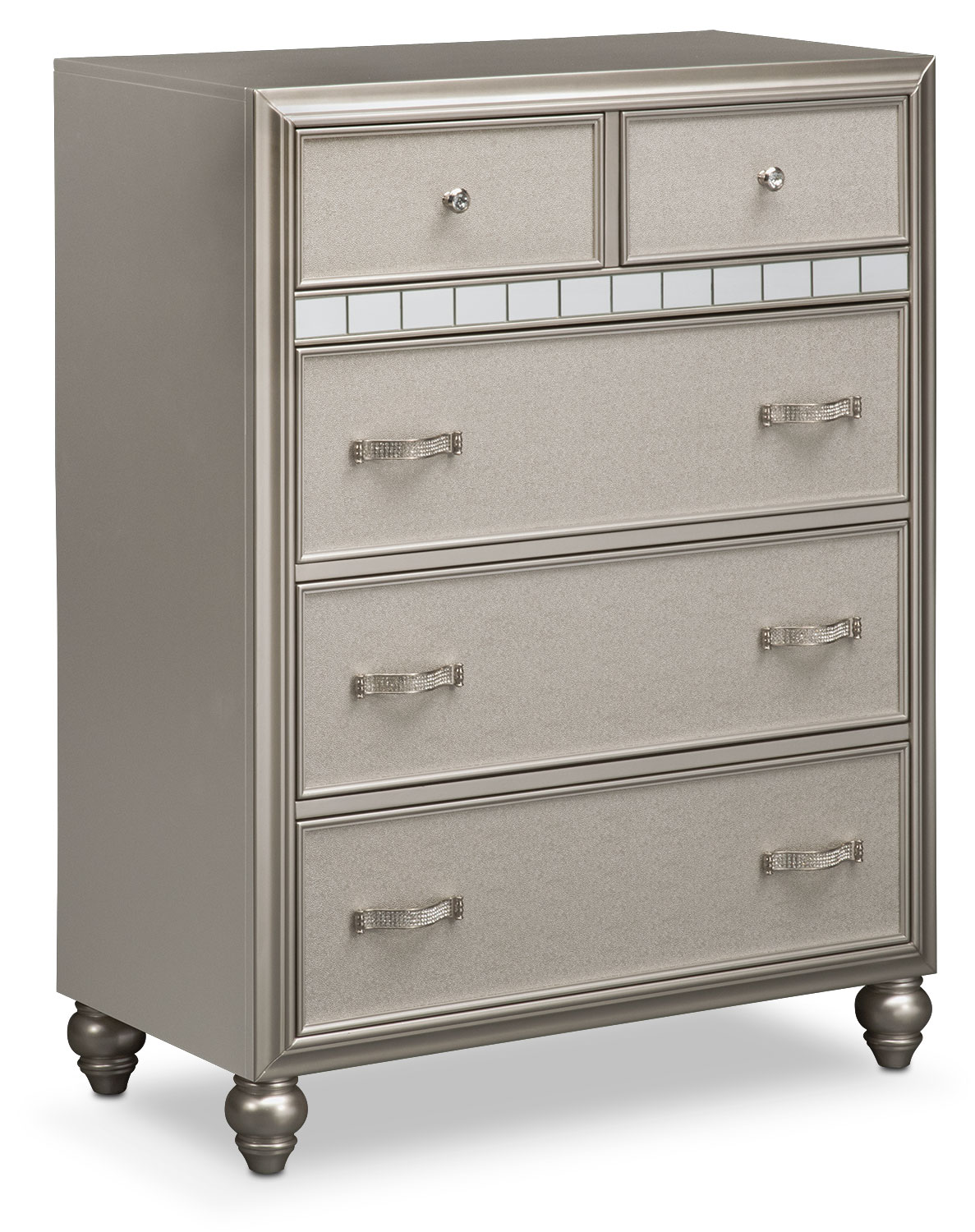 Bedroom Furniture - Serena Chest - Platinum