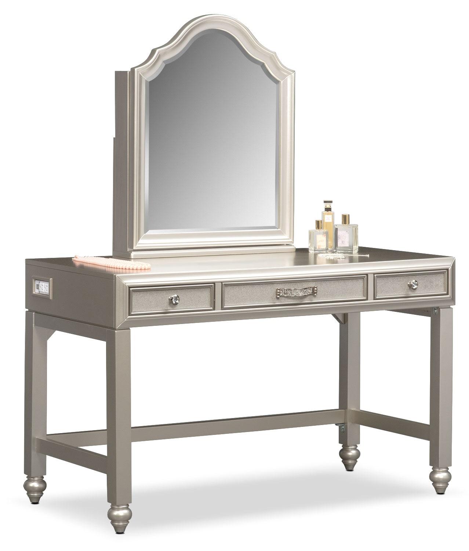 Bedroom Furniture   Serena Vanity And Mirror ...
