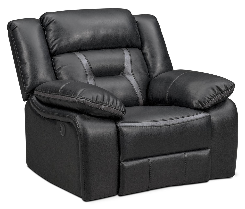 Living Room Furniture - Remi Glider Power Recliner - Black