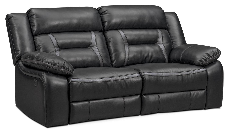 Living Room Furniture - Remi 2-Piece Power Reclining Sofa - Black
