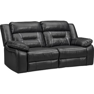 Remi 2-Piece Power Reclining Sofa - Black