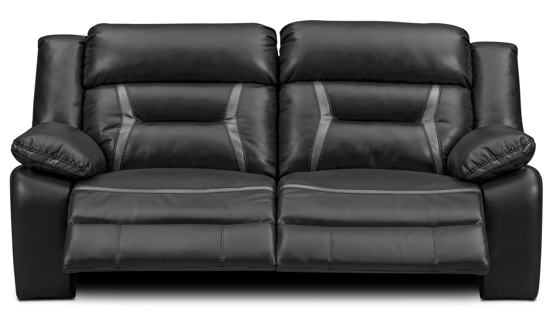 Remi 2 Piece Power Reclining Sofa Black