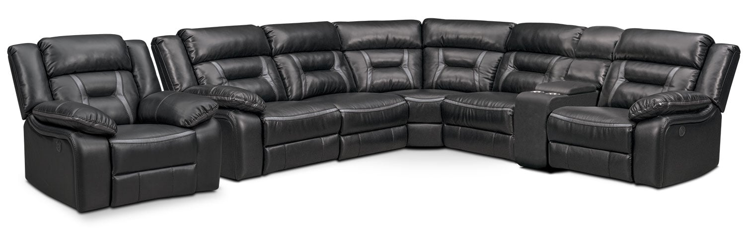 The Remi Power Reclining Collection - Black