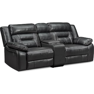 Remi 3-Piece Power Reclining Sofa - Black
